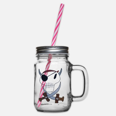 Pirate Cloth Priate clothing - Glass jar with handle and screw cap