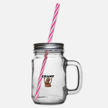 Champ CHAMP - Glass jar with handle and screw cap