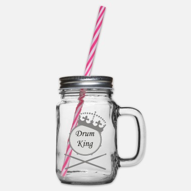 drum king - Glass jar with handle and screw cap