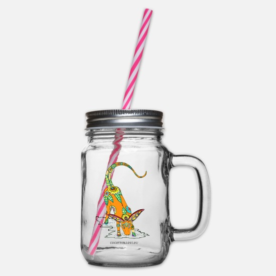 Animal Planet Mugs & Drinkware - Fantastic animal - Glass jar with handle and screw cap clear