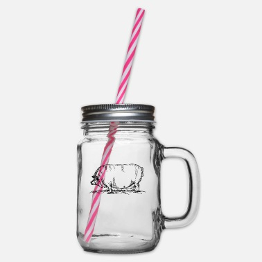 Sow sow - Glass jar with handle and screw cap