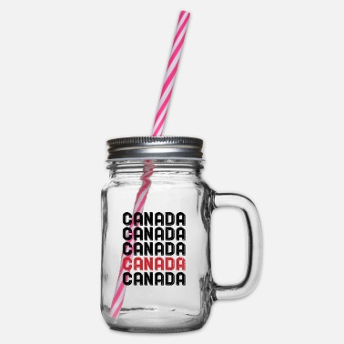 Canada Canada Canada - Glass jar with handle and screw cap