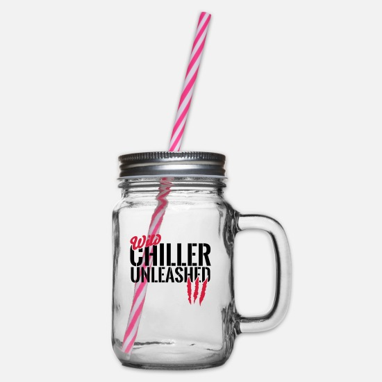 Nature Mugs & Drinkware - Wilder Cameron unleashed - Glass jar with handle and screw cap clear