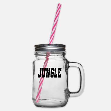Jungle jungle - Glass jar with handle and screw cap