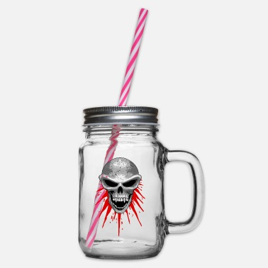 St23 st23 skull - Glass jar with handle and screw cap