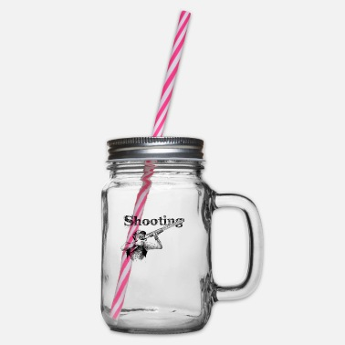 Shooting Shooting - Glass jar with handle and screw cap