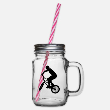 Grindhouse BMX / Bike Design for skaters and bikers - Glass jar with handle and screw cap