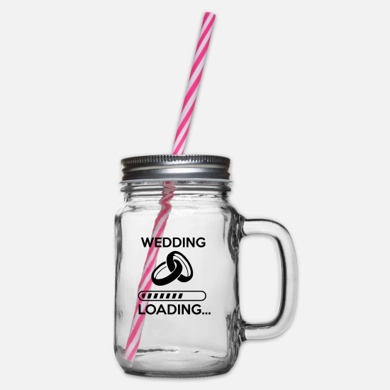 Loading Tassen & Becher - wedding loading - Stag do - hen party - Henkelglas mit Schraubdeckel Klar