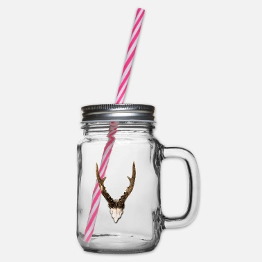antler - Glass jar with handle and screw cap