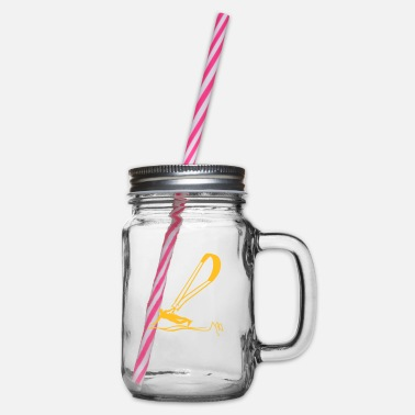 Kiters kiter - Glass jar with handle and screw cap