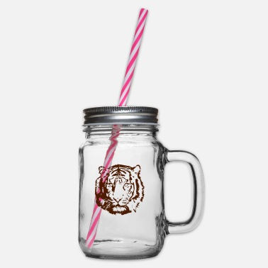 Tiger tiger - Glass jar with handle and screw cap