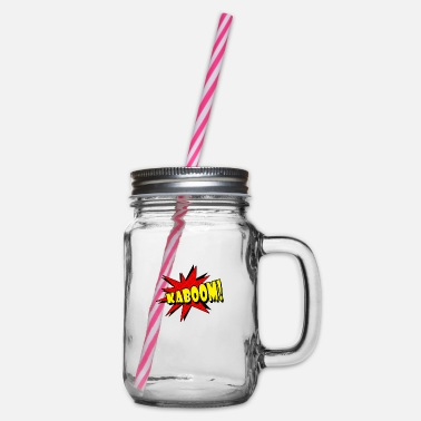 Kaboom Kaboom! - Glass jar with handle and screw cap