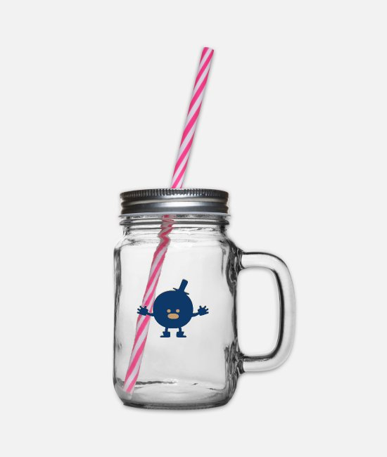 Play Mugs & Drinkware - Monster Humpty Dumpty - Glass jar with handle and screw cap clear