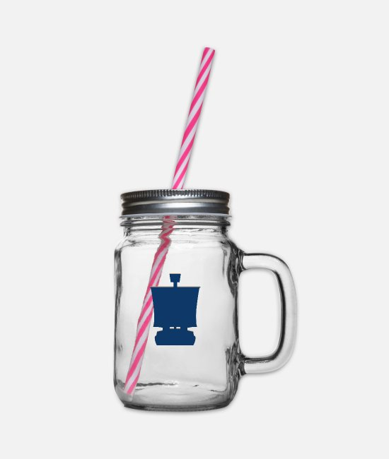 Pirate Flag Mugs & Drinkware - Great pirate cruiser - Glass jar with handle and screw cap clear