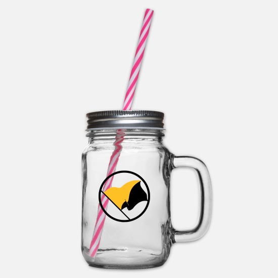 Freedom Mugs & Drinkware - Anarcho Capitalism - Glass jar with handle and screw cap clear