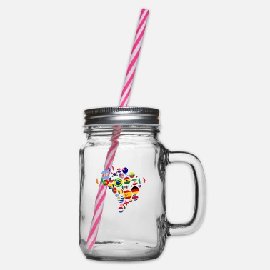 National Nations - Glass jar with handle and screw cap