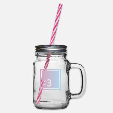 Keyword Keyword love - Glass jar with handle and screw cap
