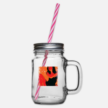 Rock N Roll Underwear Girlfriend - Glass jar with handle and screw cap