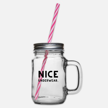 Underwear Nice underwear - Glass jar with handle and screw cap