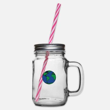 Planet Earth planet Earth - Glass jar with handle and screw cap