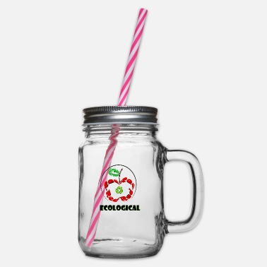 Ecological Ecological - Glass jar with handle and screw cap