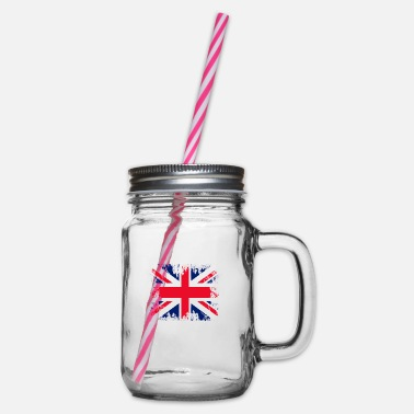 England England england - Glass jar with handle and screw cap