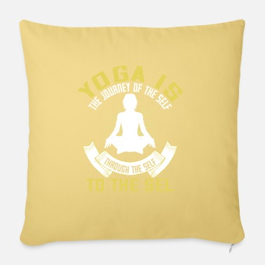 Thinking Yoga quote - yoga is - Sofa pillow with filling 45cm x 45cm