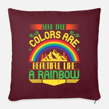 Courage Rainbow - Colour and Sunshine - 50 - Sofa pillow with filling 45cm x 45cm