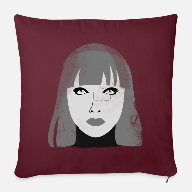 Lacquerer Cyborg in lacquer and leather - Sofa pillow with filling 45cm x 45cm