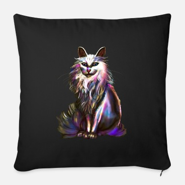 silver cat - Sofa pillow with filling 45cm x 45cm
