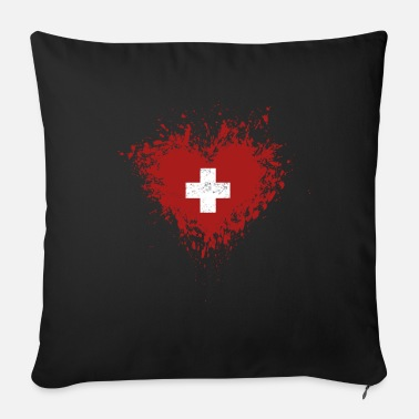 Switzerland Switzerland - Switzerland - Sofa pillow with filling 45cm x 45cm