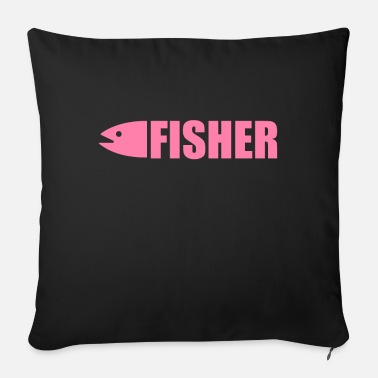 Fish Fishing fishing fishing fishing - Sofa pillow with filling 45cm x 45cm
