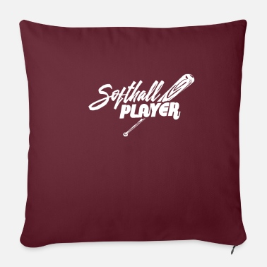 Softball Softball softball player - Sofa pillow with filling 45cm x 45cm