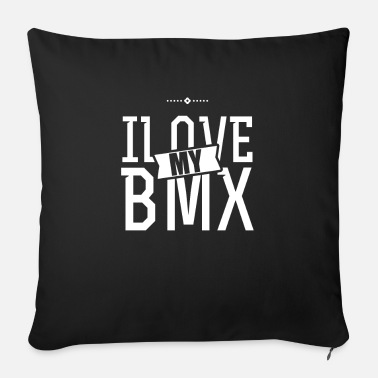 Cyclist BMX cyclist BMX cyclist BMX cyclist - Sofa pillow with filling 45cm x 45cm