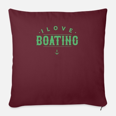 Boat Boats boat trip boat yacht boating boat - Sofa pillow with filling 45cm x 45cm