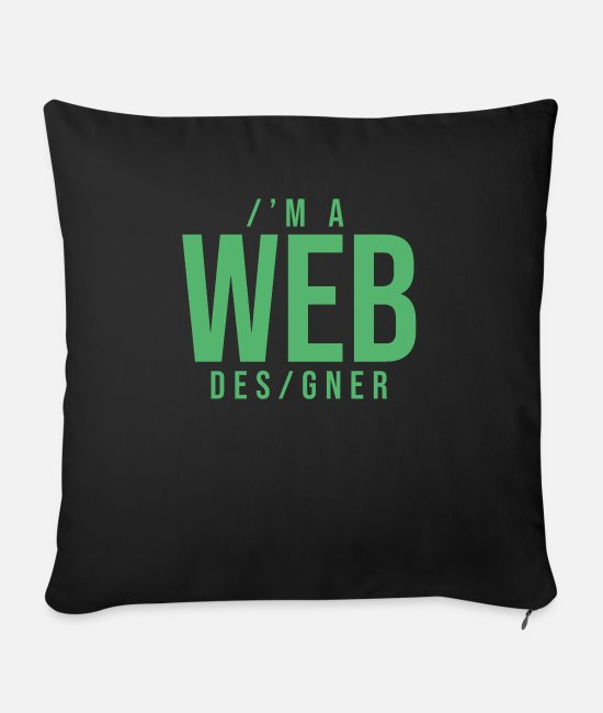 Programmemer Pillow Cases - Web web design web designer coder programmer - Sofa pillow with filling 45cm x 45cm black