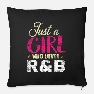 R&b R & B music girl - Sofa pillow with filling 45cm x 45cm