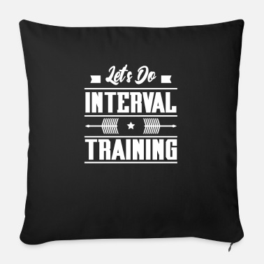 Training interval training - Cuscino da divano 44 x 44 cm con riempimento