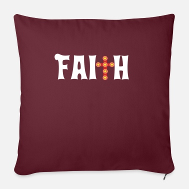 Stylish Faith Cross Christian Design Parade - Sofa pillow with filling 45cm x 45cm