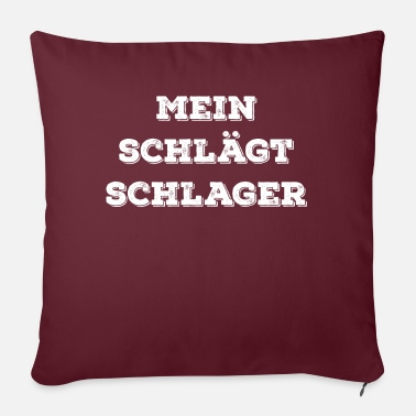 Valentines Day Mein Schlägt Schlager - Sofa pillow with filling 45cm x 45cm