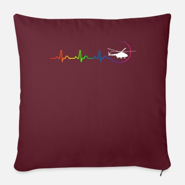 Vehicle HELICOPTER HOMOSEXUAL - Sofa pillow with filling 45cm x 45cm