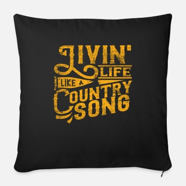 Country Country musik - Sofapude med fyld 44 x 44 cm