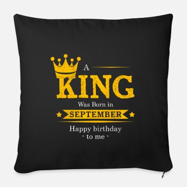 Bursdag Year of construction September gift established Bursdag - Sofa pillow with filling 45cm x 45cm