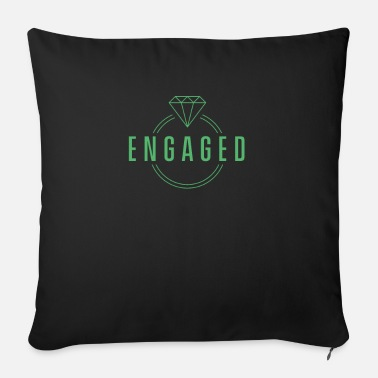 Engagement Engaged engaged engaged - Sofa pillow with filling 45cm x 45cm