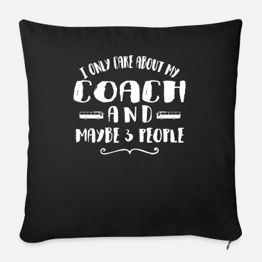 Car Old Man With A Coach Coach Gift For Fathers - Sofa pillow with filling 45cm x 45cm