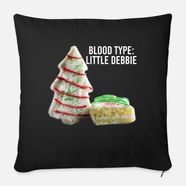 Unicorno Blood Type Little Debbie Chocolate Cupcakes Funny - Cuscino da divano 44 x 44 cm con riempimento