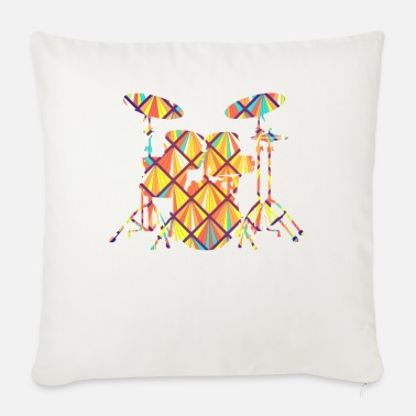 Drum Set Drum Set Drum Set Geometric - Sofa pillow with filling 45cm x 45cm