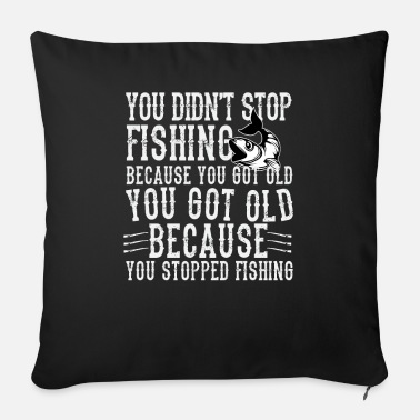 Ángel Fishing funny angler saying - Sofa pillow with filling 45cm x 45cm
