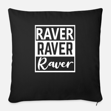 Hardstyle Raver 4 Ever Techno Rave Party Trance Electro - Sofapude med fyld 44 x 44 cm