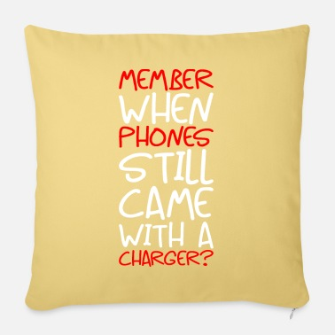 Charger Phone cellphone smartphone charger cable charger - Sofa pillow with filling 45cm x 45cm